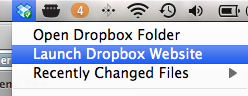 Launch dropbox website pe